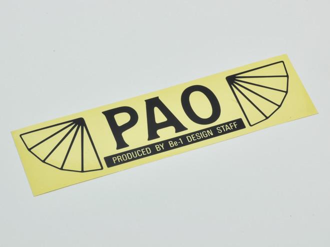 PAO開発当時のチームステッカー